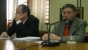Martín Barral y su abogado defensor.