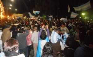 9 de julio- festejos de la gente por la Semifinal del Mundial 025