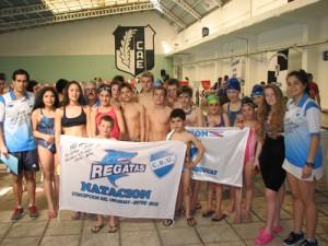 Regatas natación en el torneo de invierno,jpg