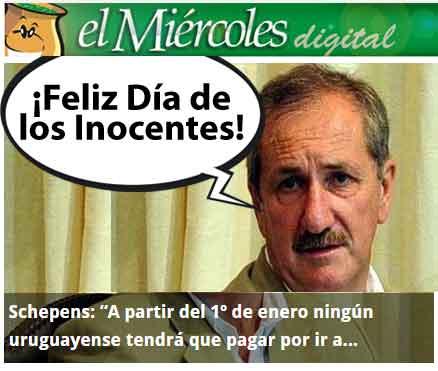 La broma del Día de los Inocentes tuvo gran repercusión.