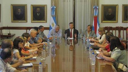 reunión docente con el Gobierno del 29 de enero de 2015