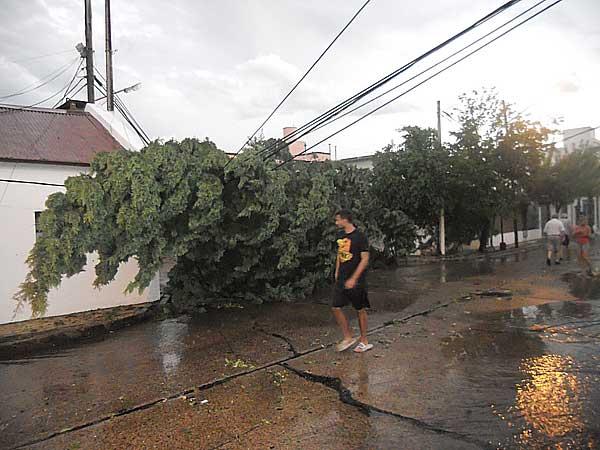 Temporal causó daños en Concepción del Uruguay.