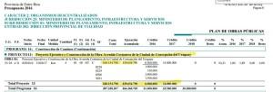 La Costanera, en el proyecto de Presupuesto para 2016. Fuente: http://www.hcder.gov.ar/presupuesto2016/pdf/CONS_PLAOBRAS.PDF