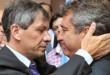 El ex ministro de Comunicaciones provincial, Pedro Báez,y el ex Gobernador y actual diputado provincial, Sergio Urribarri. (Foto: Voz Enterriana Blogspots).