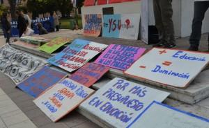 """""""Tenemos que estar todos unidos en esto ya que no nos favorece ni a los docentes ni a los estudiantes"""". (Foto: El Miércoles Digital)."""