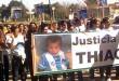Una de las tantas marchas de los familiares de Thiago. (Archivo de El Miércoles Digital).