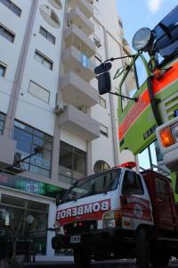Un vecino alertó del principio de incendio. (Foto: Mario Rovina de El Miércoles Digital)