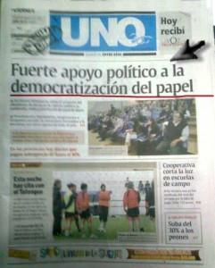 """Diario Uno: la ley de Medios era """"para amordazar"""". Pero en cambio """"se democratizaba"""" el papel. Los intereses antes que la información."""